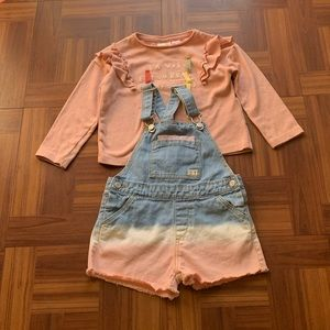 Zara Baby Girl Top and Overalls
